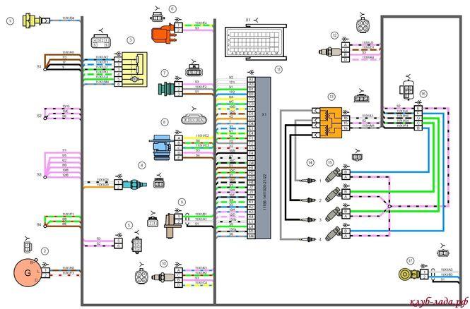 Схема системы зажигания Гранты
