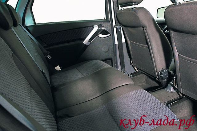 фото задних сидений лада гранта
