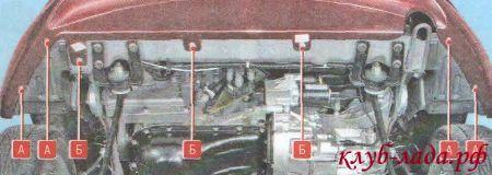 Открутите нижнее крепление переднего бампера к кузову и подкрылкам