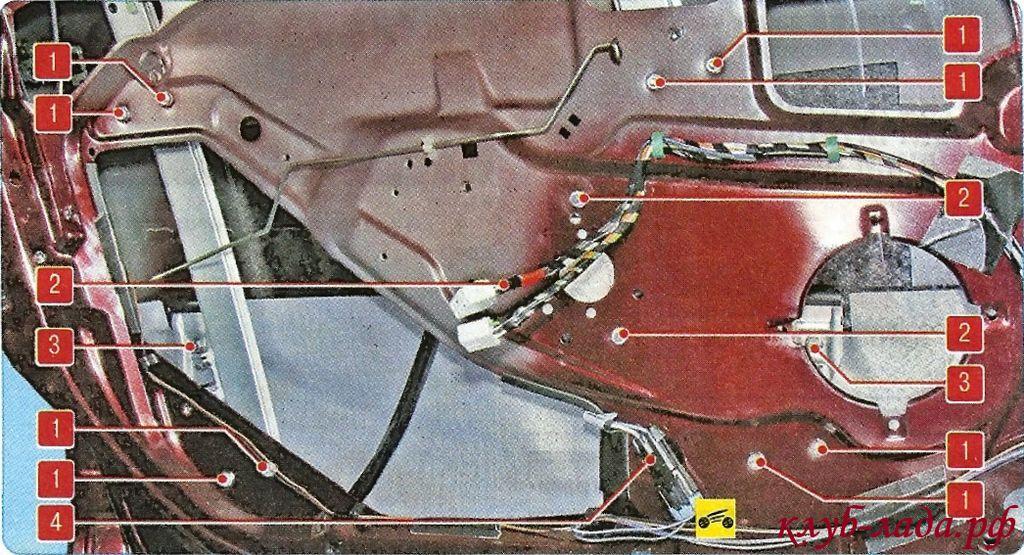Схема креплений переднего ЭСП Гранты