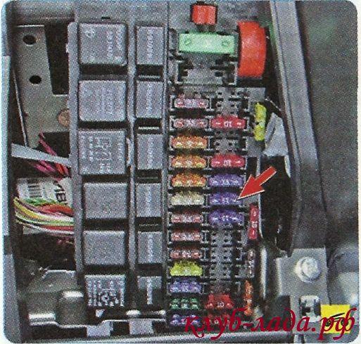предохранитель топливного насоса (F21) Гранты