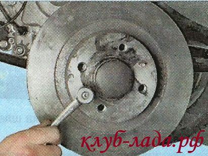 Замена тормозных дисков Гранты