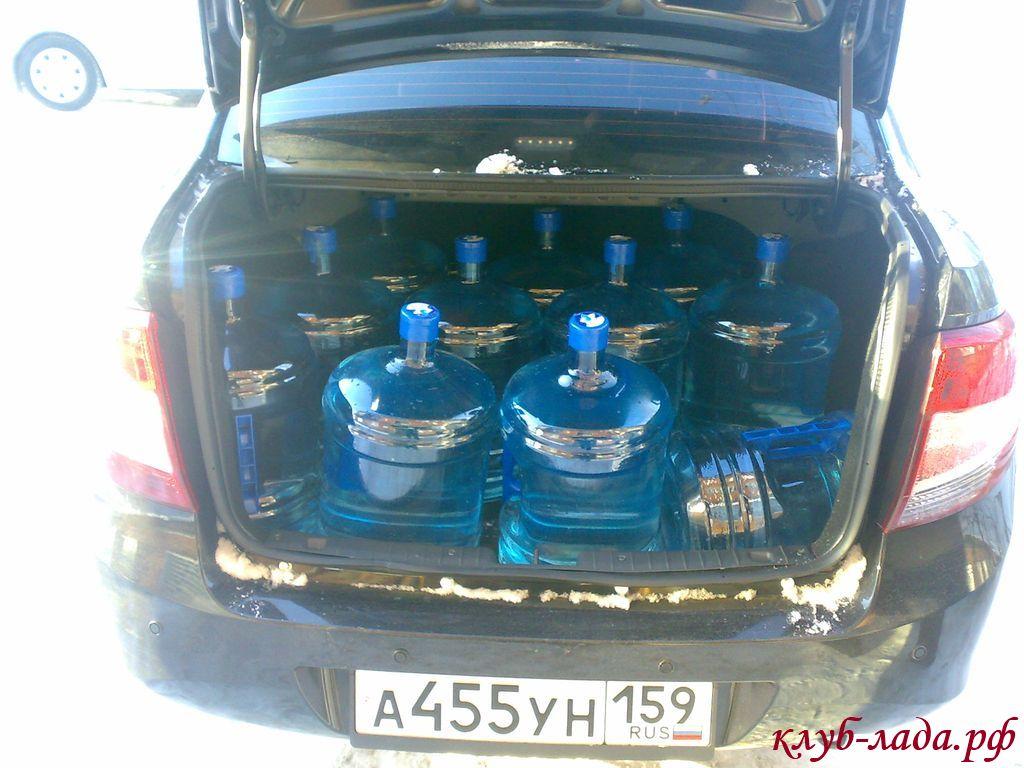 11 бутылей в багажнике гранты