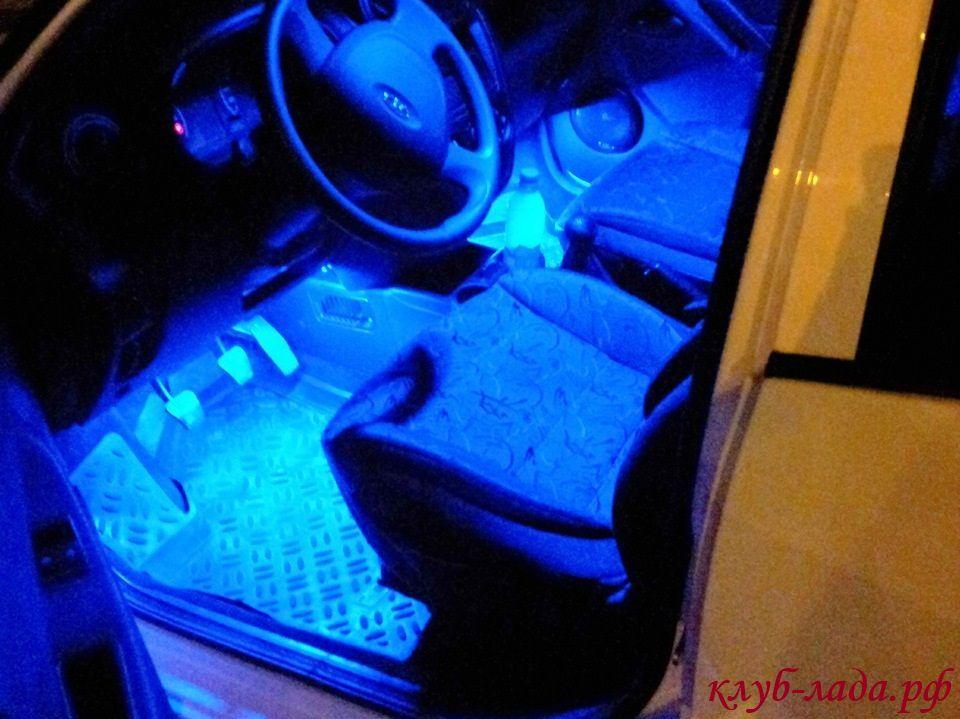 Как на приоре сделать подсветку белой 429