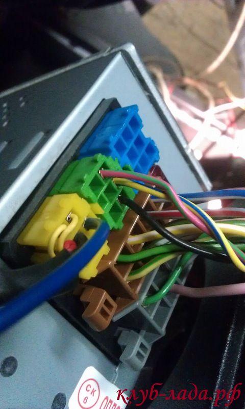 желтый разъем mini-ISO в магнитоле калины2/гранты