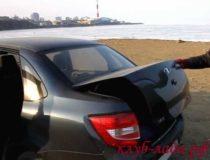 Регулировка закрытия багажника Лада Гранта