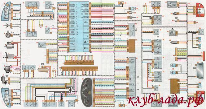 общая схема электрооборудования лада Калина