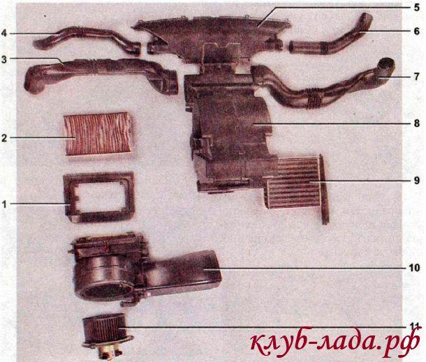 Элементы системы отопления ЛАДА Калина