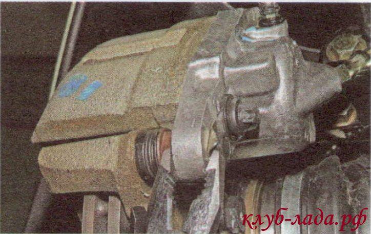 Замена передних колодок калина