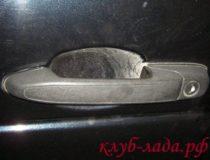 Ремонт внешней ручки двери Калины