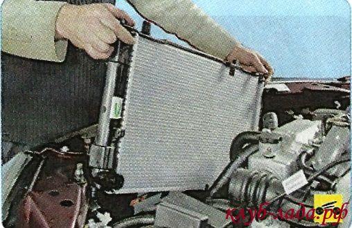 Установка радиатора охлаждения гранты/калины