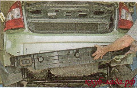 Ремонт заднего бампера лада гранта своими руками 45