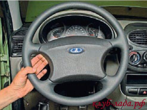 Как снять руль калина