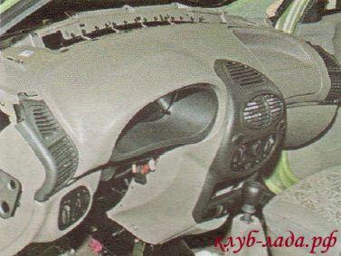 Снятие и установка панели (торпедо) Калины без отопителя