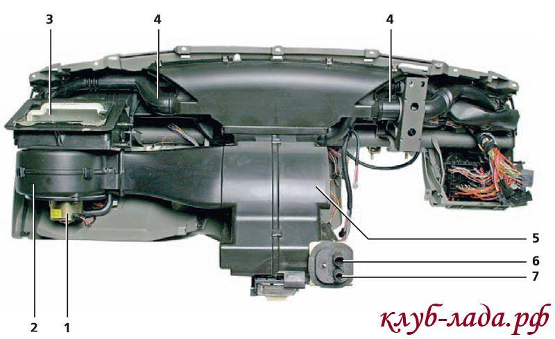 Замена Мотора Отопителя Калина