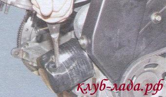 замена фильтр калины с помощью отвертки