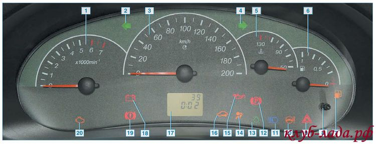 индикатор давления масла в двигателей №15