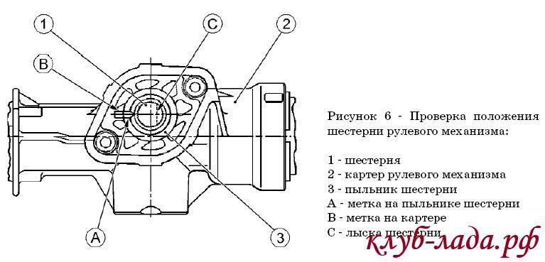 Установка рулевого механизма Калины