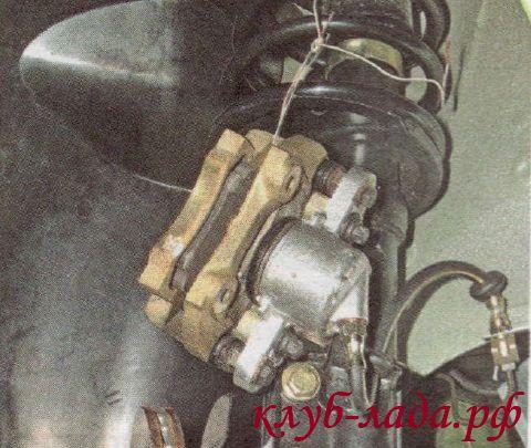 подвязать суппорт Калины к пружине подвески