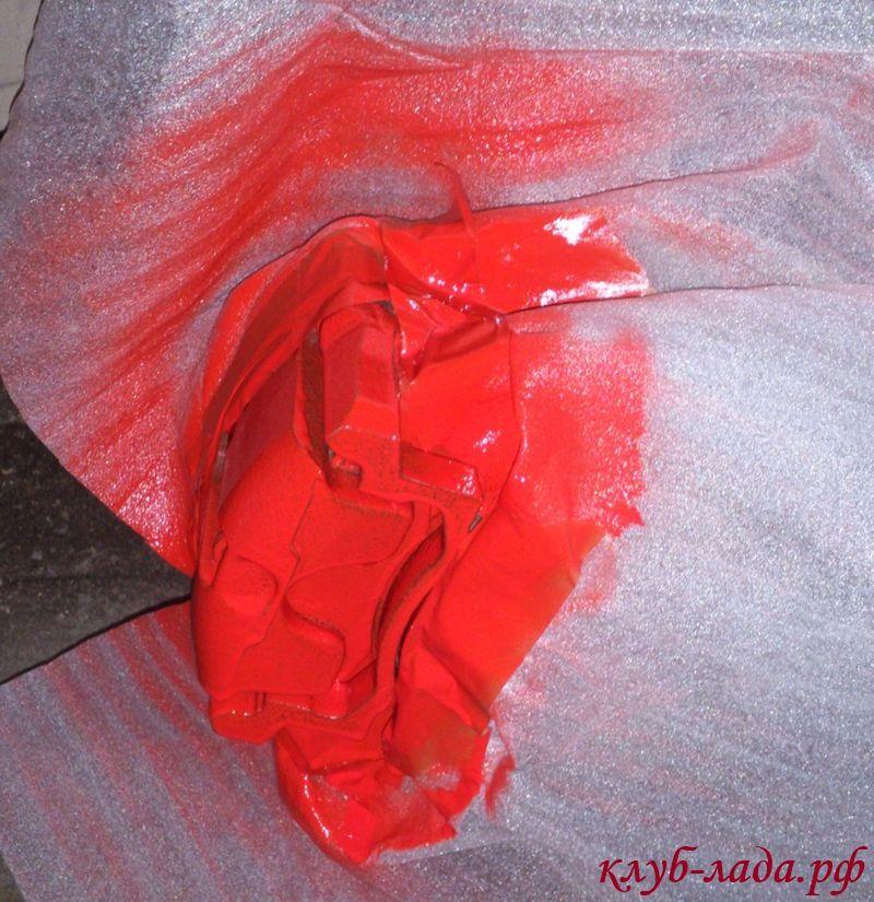 покраска суппортов лада калина