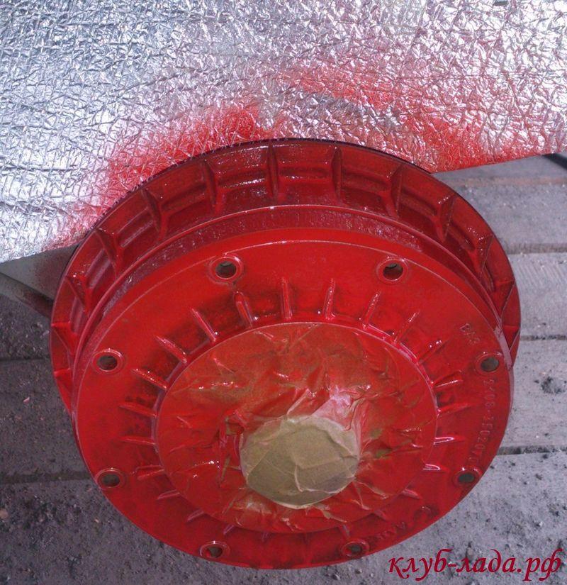 покраска тормозных барабаннов калины