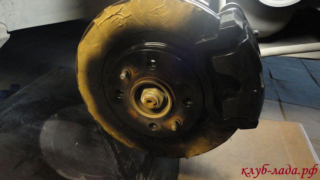 покраска тормозных дисков калины