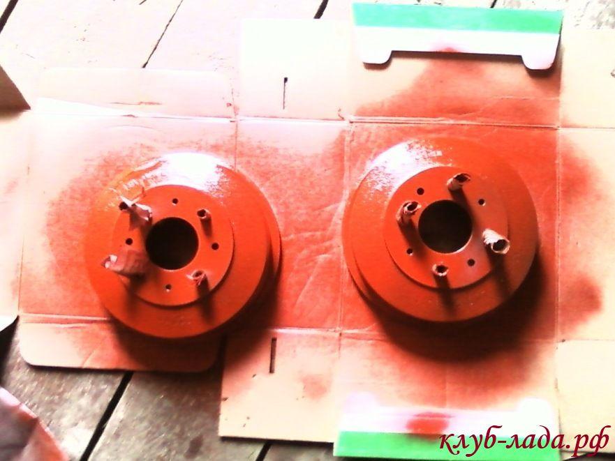 покраска тормозных дисков kalina