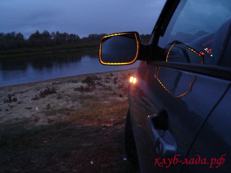 Подсветка в зеркалах заднего вида своими руками