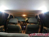 Дополнительная подсветка салона для задних пассажиров Калины