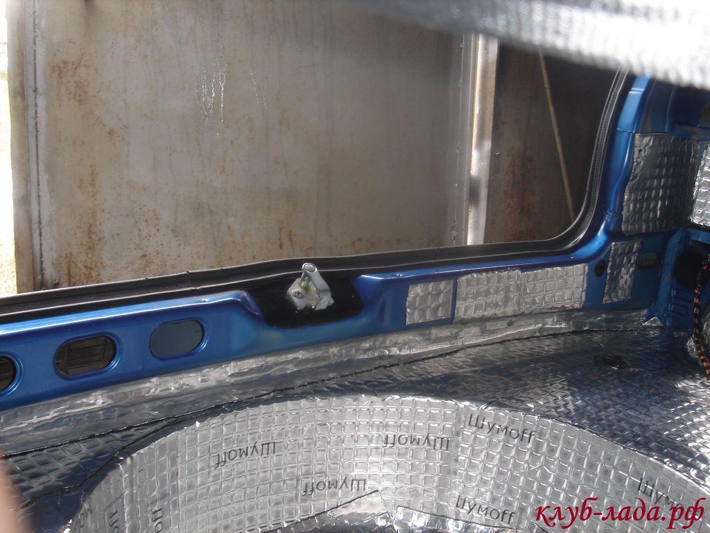 виброизоляция багажника калины