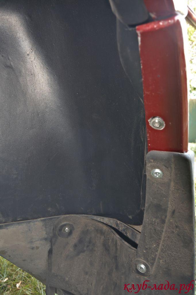 установка задних подкрылков на Лада Калина (ВАЗ 1117, 1118, 1119)