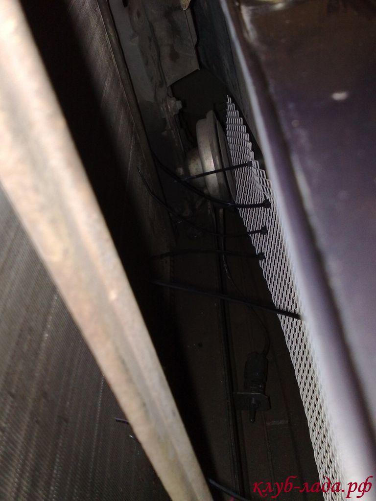 Установка сетки в бампер Калины