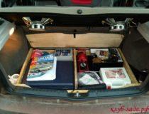 Фальшпол в багажник Калины