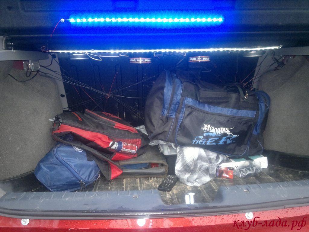 Освещение багажника Калина Универсал