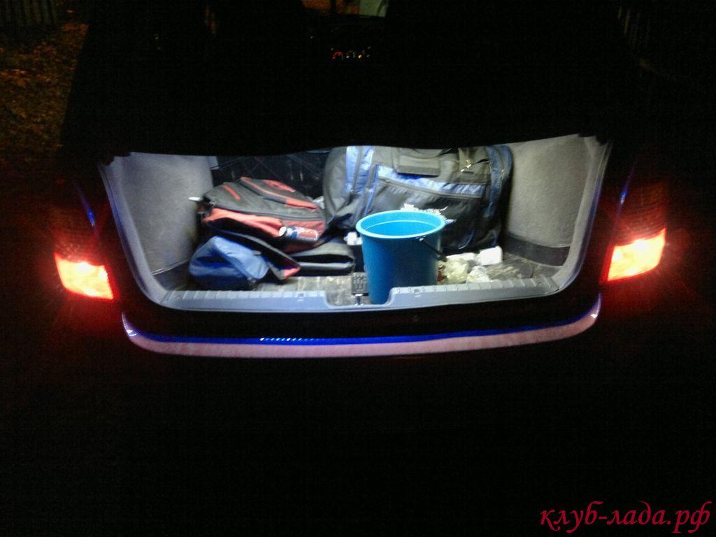 Подсветка багажника Калины