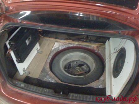 оформление багажника калины с сабвуфером