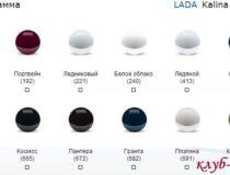 Цвета кузова Лада Калина 2 (фото)