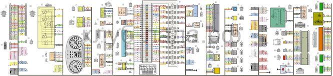 Электросхема панели приборов Калина 2