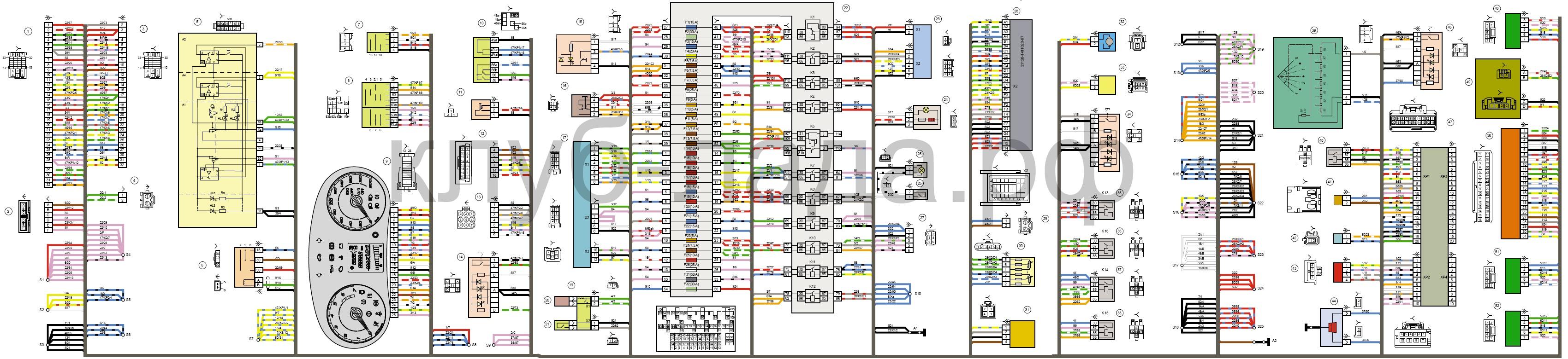Схема комбинации приборов гранта