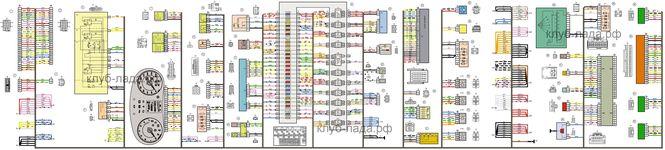 Схема панели приборов Калина 2