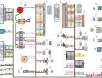 Электросхемы Калина 2 хэтчбек (стандарт и норма)