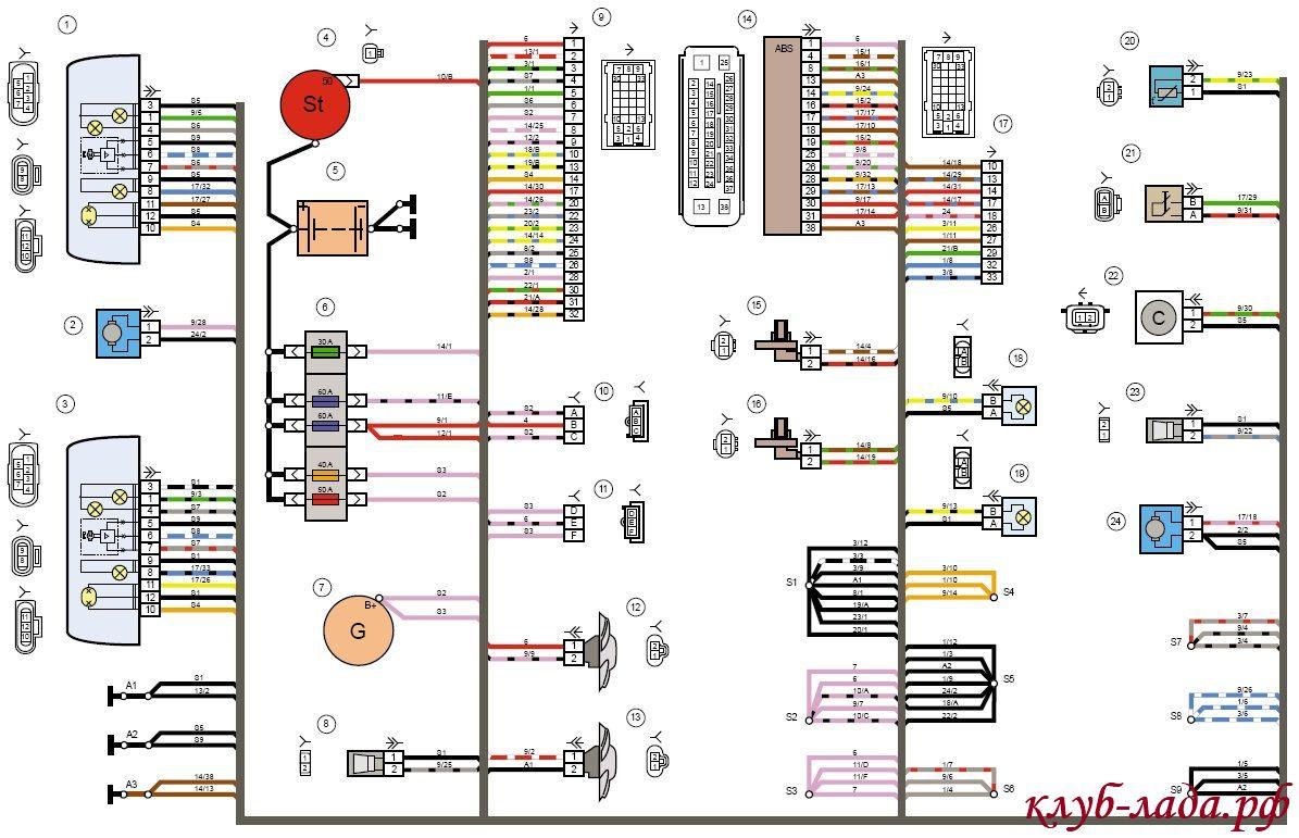 электрическая схема лада ларгус люкс скачать бесплатно