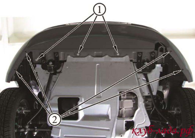 Снятие переднего бампера калина 2 (ВАЗ 2192)