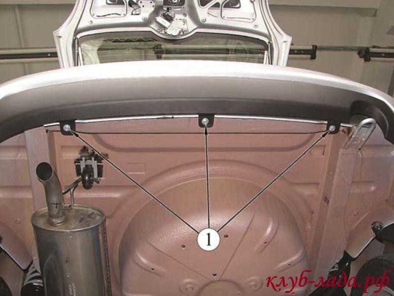 снятие заднего бампера Калины 2 Универсал (ВАЗ 2194)