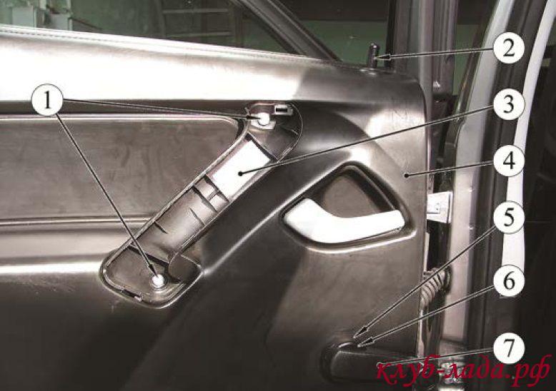 снятие обшивки двери калина (задняя)
