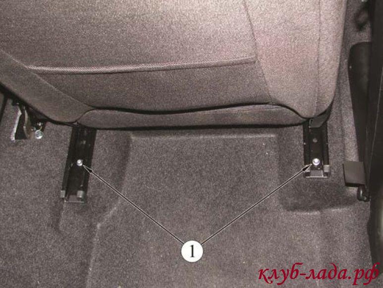 снятие передних сидений Лада Калина 2