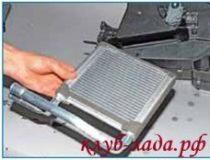 Замена радиатора отопителя Калина 2 (ВАЗ 2192, 2194)
