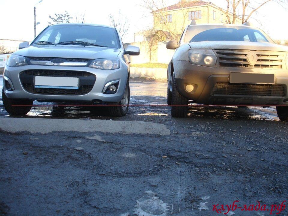 Калина 2 и Renault Duster