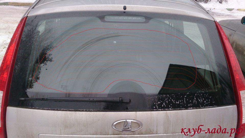 очистка заднего стекла (поводок дворника калина 1)