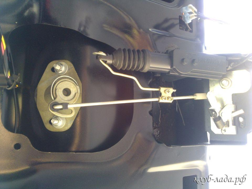 установка электрозамка багажника калина 2
